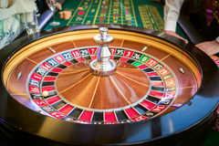 Casino. Roulette table in casino close up stock photography