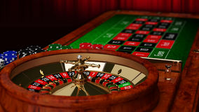 Casino Roulette Table Royalty Free Stock Image
