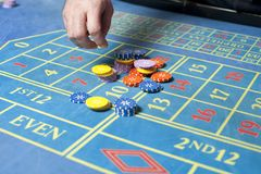 Casino roulette table Royalty Free Stock Photography