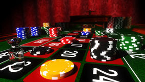 Casino Roulette Table. With winning number 22 vector illustration