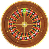 Casino roulette, top view. 3D rendering Royalty Free Stock Photos