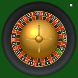 Casino Roulette Top View Template. Royalty Free Stock Image