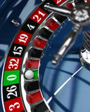 Casino, roulette wheel Stock Images