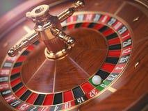Casino roulette wheel background. Zero. Stock Photos