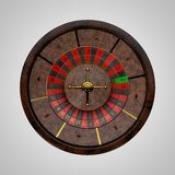 Casino roulette wheel. 3D rendering illustration.Top view. Stock Images