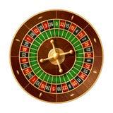 Casino roulette wheel 3d vector of gamble game stock illustration