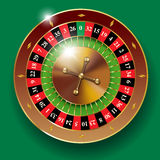 Casino roulette wheel Stock Images