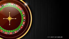 Casino roulette wheel isolated on dark background. Illustration of Casino roulette wheel isolated on dark background Stock Photos
