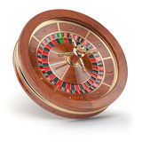 Casino roulette wheel isolated on white background. 3d illustration Royalty Free Stock Photos