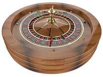 Casino roulette wheel. Casino roulette isolated on white. 3D render vector illustration