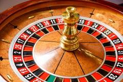 Casino roulette wheel. No token Stock Photo