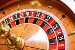 Casino roulette wheel. Casino no tokens roulette wheel Stock Photos
