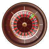 Casino roulette wheel top view isolated on white background. 3d vector illustration.  Stock Images