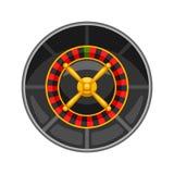 Casino roulette wheel  on white background Royalty Free Stock Photos