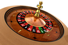 Casino Roulette on white. Roulette, built in three-dimensional program, on a white background royalty free stock photos