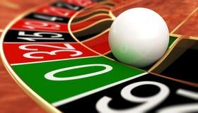 Zero. Casino roulette on zero. 3D illustration Stock Photos