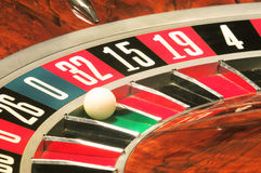 Casino roulette, zero wins stock photos