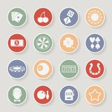 Casino round icons set. Vector illustration Stock Images