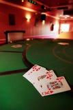 Casino royal flush of hearts Stock Image