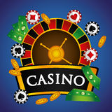 Casino royal games design Royalty Free Stock Images