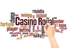 Casino royal word cloud and hand writing concept. Casino royal word cloud concept on white background stock images