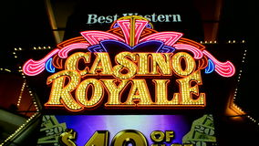 Casino Royale formerly Nob Hill Casino, Las Vegas, USA, stock video
