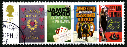 Casino Royale UK Postage Stamp Stock Photos