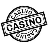 Casino rubber stamp Royalty Free Stock Photos