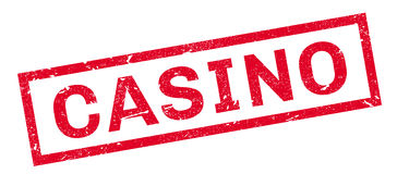 Casino rubber stamp Stock Photography