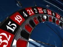 Casino, rueda de ruleta Fotografía de archivo libre de regalías