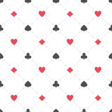 Casino seamless pattern. Seamless background with suits hearts, diamonds, clubs, spades. Poker casino seamless pattern illustration Stock Photography