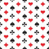 Casino seamless pattern with card suits. Vector illustration. Stock Image