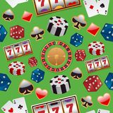 Casino seamless pattern Stock Images