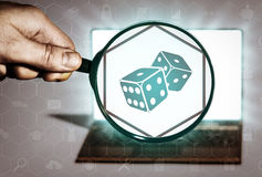 Casino search, gambling, fortune. Royalty Free Stock Photo