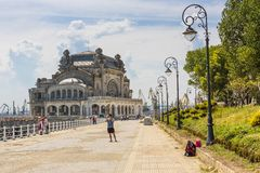 Casino seawall, Constanta, Romania Stock Images