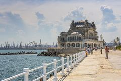 Casino seawall, Constanta, Romania Royalty Free Stock Images