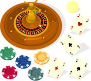 Casino set Stock Image