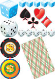 Casino Set. Illustration vector and raster Royalty Free Illustration