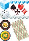 Casino Set. Illustration vector and raster Stock Image