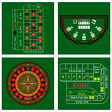 Casino set Stock Photos