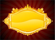 Casino sign. Gold casino sign, vector illustration Stock Images