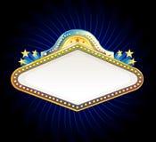 Casino sign. Casino neon sign, vector illustration Stock Image