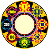 Casino sign. Illustration of casino sign with chips Royalty Free Stock Photos