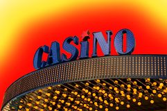 Casino sign. Picture of a Casino sign Royalty Free Stock Photos