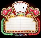 Casino Sign. Vector illustration of Retro Googie style Casino sign Royalty Free Stock Photo
