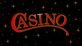 Casino sign. On starry background Stock Images