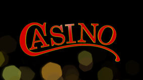 Casino sign. On black background Stock Photography