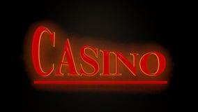 Casino sign. On black background Stock Image