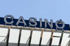 Casino Sign. In the Day Stock Photos