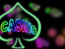 Casino sign. Casino neon sign at night Royalty Free Stock Image